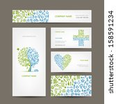 business cards with medical... | Shutterstock .eps vector #158591234