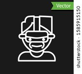 white line virtual reality... | Shutterstock .eps vector #1585915150