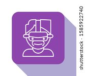 white line virtual reality... | Shutterstock .eps vector #1585922740