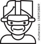 black line virtual reality... | Shutterstock .eps vector #1585928809