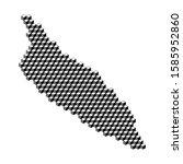 aruba map from 3d black cubes... | Shutterstock .eps vector #1585952860