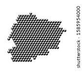 map from 3d black cubes... | Shutterstock .eps vector #1585954000