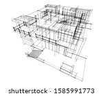 house building architecture... | Shutterstock .eps vector #1585991773