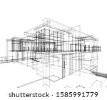 house building architecture... | Shutterstock .eps vector #1585991779