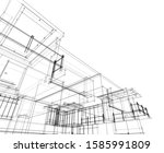 house building architecture... | Shutterstock .eps vector #1585991809