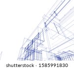house building architecture... | Shutterstock .eps vector #1585991830
