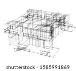 house building architecture... | Shutterstock .eps vector #1585991869
