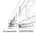 house building architecture... | Shutterstock .eps vector #1585991890
