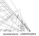 house building architecture... | Shutterstock .eps vector #1585991893