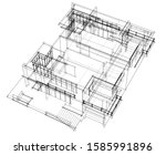 house building architecture... | Shutterstock .eps vector #1585991896