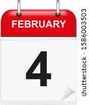 daily single leaf calendar  red ... | Shutterstock .eps vector #1586003503