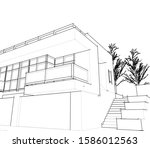 house building architecture... | Shutterstock .eps vector #1586012563