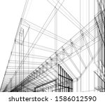 house building architecture... | Shutterstock .eps vector #1586012590