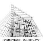 house building architecture... | Shutterstock .eps vector #1586012599