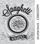 poster lettering spaghetti...   Shutterstock .eps vector #158602094