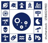 astronomy icon set. 17 filled... | Shutterstock .eps vector #1586024983