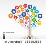 abstract social media... | Shutterstock .eps vector #158603858