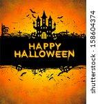 happy halloween | Shutterstock . vector #158604374
