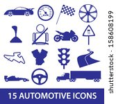automotive icon collection eps10 | Shutterstock .eps vector #158608199