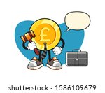 pound sterling gold coin lawyer ... | Shutterstock .eps vector #1586109679