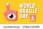 world braile day january 4th | Shutterstock .eps vector #1586133289