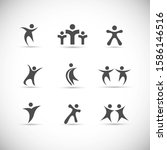abstract people logo set. human ...   Shutterstock .eps vector #1586146516
