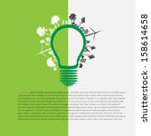 infographic green eco energy... | Shutterstock .eps vector #158614658