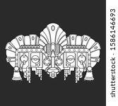 vector mask  mexican mayan  ... | Shutterstock .eps vector #1586146693