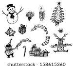 merry christmas holidays set ...   Shutterstock .eps vector #158615360