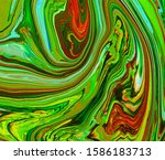 Bright Abstract Marble Orange...