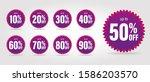 Sale Discount Icons.  Purple...