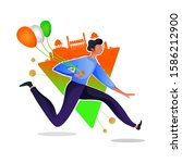republic day celebration on 26... | Shutterstock .eps vector #1586212900