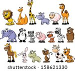 big set of animals    vector  | Shutterstock .eps vector #158621330