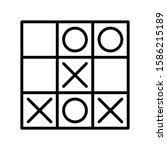 Icon Tic Tac Toe In Outline...