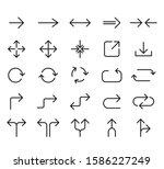 line arrow icon set. vector...