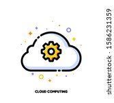 icon of cloud and gear for... | Shutterstock .eps vector #1586231359