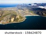 aerial view of fish hoek valley ... | Shutterstock . vector #158624870