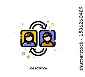 job rotation icon for human... | Shutterstock .eps vector #1586260489