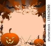 dark orange grungy halloween... | Shutterstock .eps vector #158626280