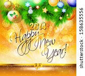 2014 happy new year card or... | Shutterstock .eps vector #158635556