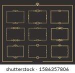 set of art deco vintage golden... | Shutterstock .eps vector #1586357806