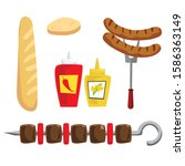 picnic elements collection... | Shutterstock .eps vector #1586363149