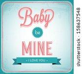 vector vintage love card | Shutterstock .eps vector #158637548