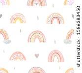 Seamless Pattern. Watercolor...