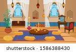 middle eastern living room... | Shutterstock .eps vector #1586388430