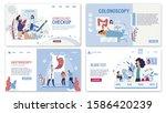 online healthcare services flat ...   Shutterstock .eps vector #1586420239