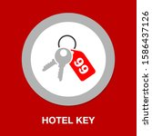 room key icon   vector key... | Shutterstock .eps vector #1586437126