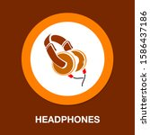 headphone icon   vector... | Shutterstock .eps vector #1586437186