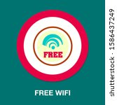 wireless and wifi icons.... | Shutterstock .eps vector #1586437249