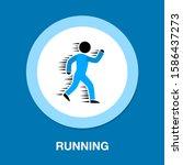 running man   sport icon ...   Shutterstock .eps vector #1586437273